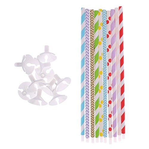 Sharplace 10 Stück Kunststoff Ballon Halter Sticks (Kunststoff-stick-halter)