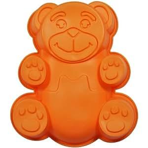 Promobo - Moule à Gateau en silicone Ourson Forme Ludique Animal Orange