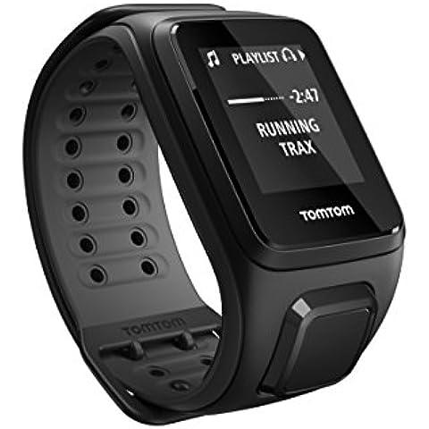 TomTom Runner2 - Reloj deportivo con música, color negro / gris, L