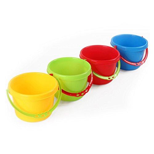 STOBOK 4 stücke Sand Werkzeuge Strand Kinder Spielen Wasser Spielzeug Strand Eimer Eimer für Pools Hinterhof (Gelegentliche Farbe)