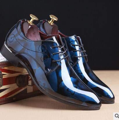 de485ac91 LOVDRAM Zapatos De Cuero para Hombre Classic Fashion Patent Leather Men'  Dress Shoes Pointed Toe