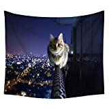 YSYS@ Hippy Cat and dog animal painting Bohemian Tapestries, Twin Hippie Tapestry 230 x 150 cm