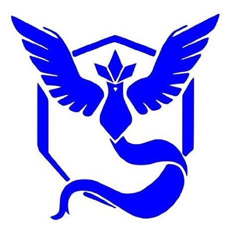 SUPERSTICKI® Team Mystic Pokemon Go Aufkleber Decal Hintergrund/Maße in Inch Vinyl Sticker|Cars Trucks Vans Walls Laptop|BLUE |5.5 x 5 in|CCI443
