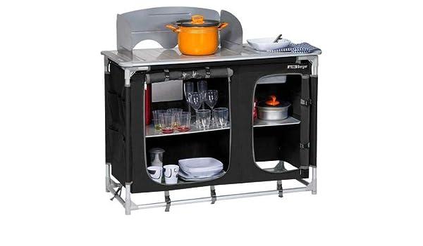 Outdoorküche Mit Spüle Blau : Berger campingküche mit spüle schwarz grau alu gestell maße b