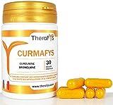 Curcumine 95% Optimisée Extrait de Curcuma avec Bromélaïne pour effets sur les Articulations et la Digestion - CURMAFYS Formule 2019 est un complément alimentaire fabriqué en France