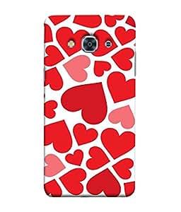 Fuson Designer Back Case Cover for Samsung Galaxy J3 Pro :: Samsung Galaxy J3 (2017) (heart shapes line square love )