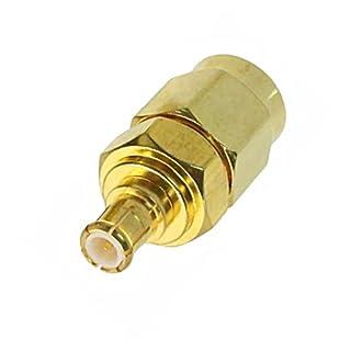 adaptare 61047 Adapter MCX-Stecker auf SMA-Stecker vergoldet für Antennen-Kabel