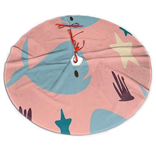 Pengyong - Falda para árbol de Navidad, diseño de Ballena de ...
