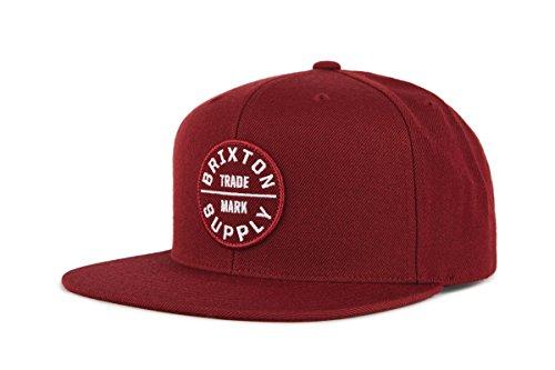 Brixton Oath III Snapback Headwear, Weinrot, One Size