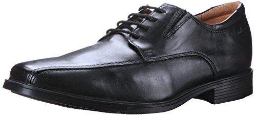 Clarks Tilden Walk Mens Dress Oxfords Black Leather 8.5 W