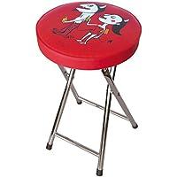 Laroom Taburete, Acero Inoxidable Legs y Plymadera-PVC Cushion, Rojo
