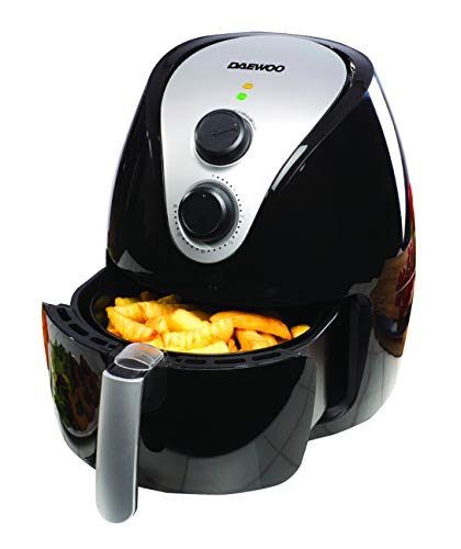 An image of the Daewoo sda1241 Air Fryer, Plastic 1350 W, Black/Silver