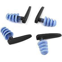2 Par de silicona suave Natación Entrenamiento impermeable Dilataciones azul claro