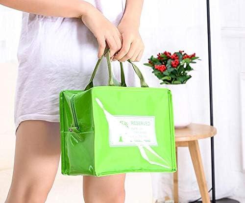 WWUUOOPRT WWUUOOPRT WWUUOOPRT Korean Sac de Pique-Nique Isotherme Portable Vert B07GTL3SJH | Belle En Couleurs  5e5d8a