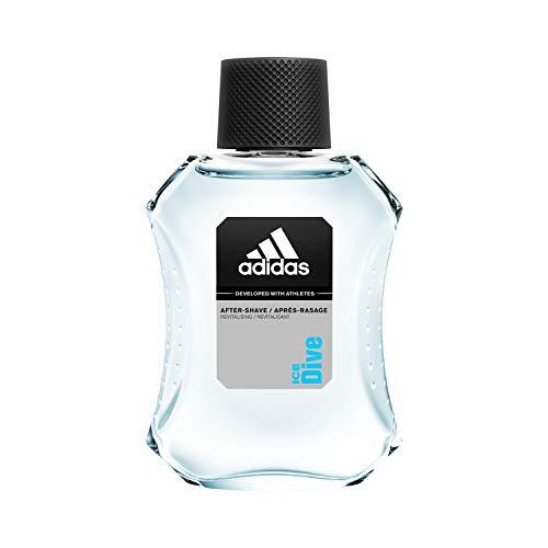 adidas Ice Dive After Shave - Revitalisierendes Rasierwasser mit holzig-aromatischem Herrenduft - Pflegt die Haut nach der Rasur & verhindert Hautirritationen - 1 x 100 ml