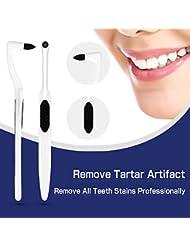Zahnsteinentferner Zahnsteinentfernung Professionelle Zahnreinigung Interdentalbürsten Zahnpolierer-Effektive Zahnarztbesteck,Rutschfest in der Hand,Teeth Stain Remover(2-Pack)