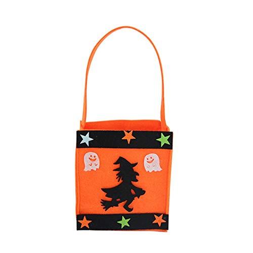KDGB Halloween DIY Kürbis Süßigkeitstasche Tote Eimer Korb Halloween Dekoration Ornament Requisiten Party Festival Kinder Geschenk Taschen (3)