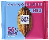 RITTER SPORT Kakao-Klasse: Die Milde 55% aus Ghana (12 x 100 g), dunkle Milchschokolade mit edlem Kakao aus Ghana, mit einem Hauch Vollmilch, Kakaogehalt: mind. 55%