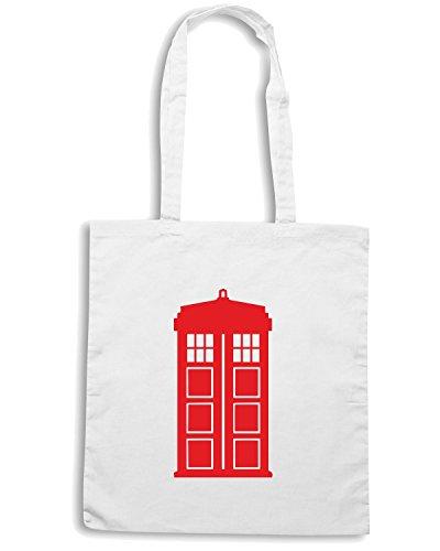 T-Shirtshock - Borsa Shopping FUN1237 doctor who window or wall sticker 2 05383 Bianco