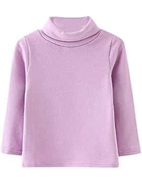 Kinder Herbst Winter Hochgeschlossenen Pullover Shirt Baby Mädchen Kleinkind Kinder Stehkragen Tops T-Shirt Warme...