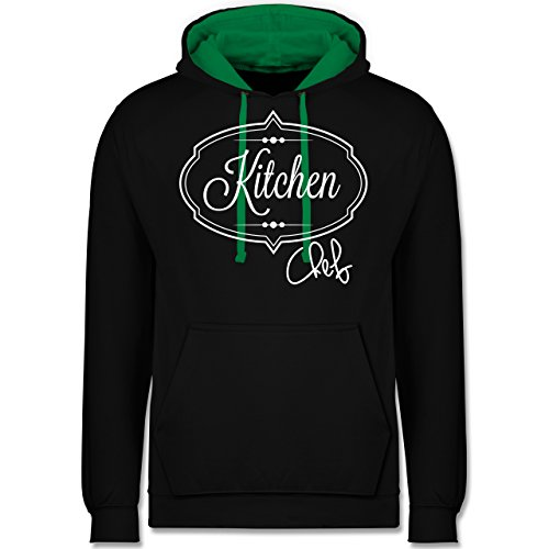 Küche - Kitchen Chef Küchenchef - Kontrast Hoodie Schwarz/Grün