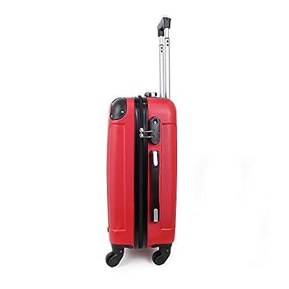 41grjyppqDL. SS416  - Todeco - Maleta De Mano, Equipaje de Cabina - Tamaño: 49 x 35 x 21 cm - Material: Plástico ABS - Esquinas protegidas, Llevar-en 51 cm, Rojo, ABS