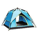 KOKR Automatisches Hydraulisches Wasserdichtes Zelt für 2-4 Personen Doppeltes Regendichtes Sonnenschutzes des Zelt-CampFeuer Campingzelt | Großes Familienzelt | Gruppenzelt
