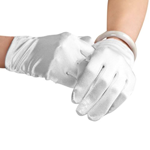 Elegant Women Ladies Stretchy Satin Wrist Length Gloves Costume Ball Evening Prom Wedding Outdoor Cycling Gloves