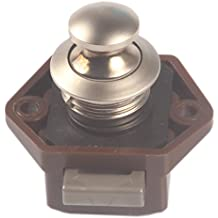 Push-Lock Verriegelung Knopf, vernickelt, für Caravan, Camper, Wohnmobil, Yachten, Schublade, Schiff, Schrank, Tür innerhalb von 15–27mm Stärke, malxs lk6420z