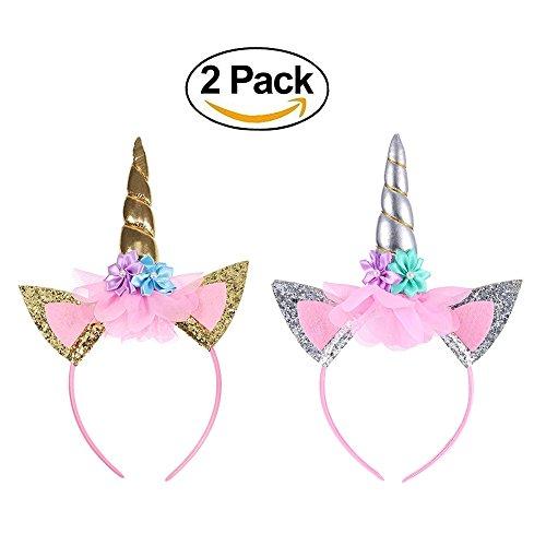 (Eklead Einhorn Stirnband - Kinder Shiny Einhorn Horn Hoop Cosplay Kostüm, Mädchen Haarband Einhorn Stirnband für Geburtstagsfeier Feste)