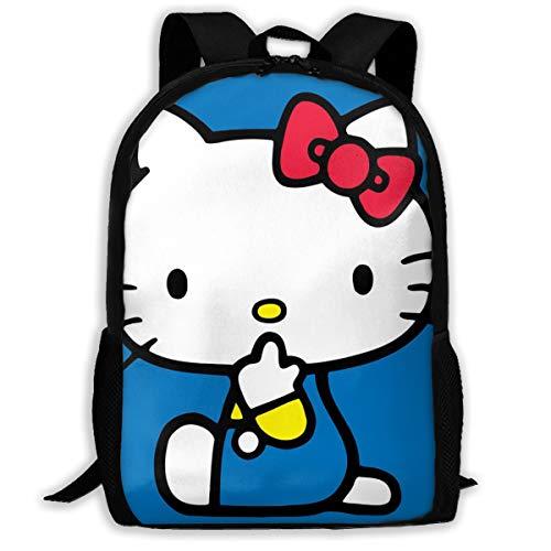 Questions Hello Kitty Oxford Rucksack für Erwachsene, bequem und strapazierfähig