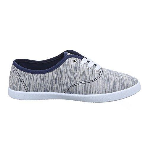 Damen Schuhe, C27-20, FREIZEITSCHUHE SLIPPER SNEAKERS Dunkelblau