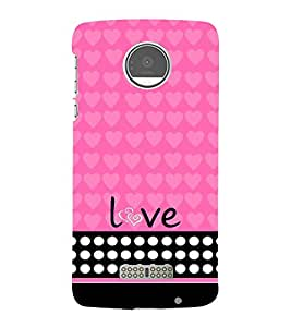 Love Girl 3D Hard Polycarbonate Designer Back Case Cover for Motorola Moto Z :: Motorola Moto Z Droid