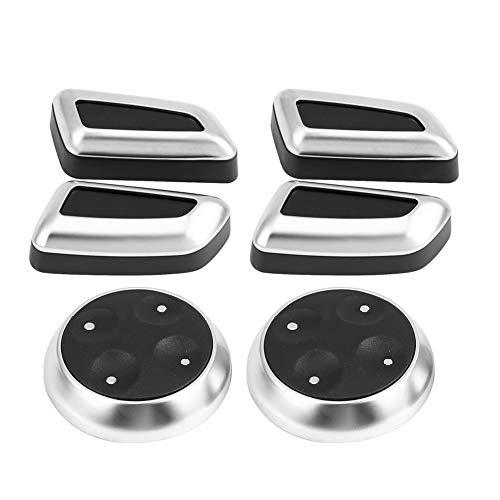 KIMISS 6 pièces Couvercle de Commutateur de Bouton de Siège Auto avec Garniture Plaquée pour A3 A4 A5 A6 Q3 Q5