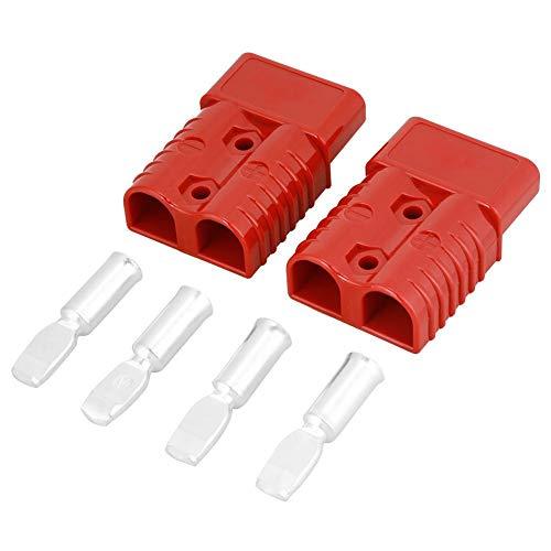 Schnellkupplungsstecker, 2 Stück Batterie Schnellkupplungsstecker mit Stecker 175A 600V rot Elektrokabel Schnellkupplung mit 4 Zubehörteilen - 175 Stück Kit