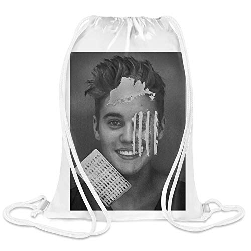 Cocaine Custom Printed Drawstring Sack | 100% Soft Polyester| 5 Liter Capacity| Adjustable String Closure| The Stylish Bag For Every Day Use| Custom Bags By Justin ()