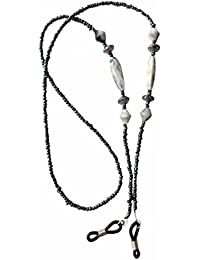 NEW Pretty Metallic Grey Marble Effect Beaded Eye Glasses / Sunglasses Chain Strap Eyewear Holder