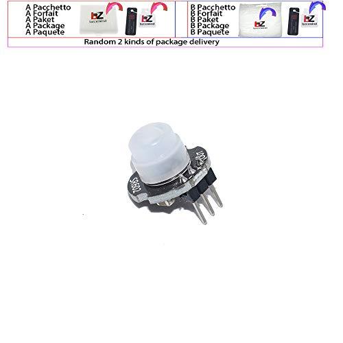 1 stücke mh-sr602 mini motion sensor detektor modul pyroelektrische pir kit sensorische schalter halterung für arduino diy mit objektiv Pir-kit