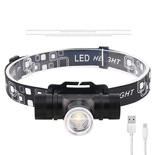 SongKai88 LED Scheinwerfer Scheinwerfer Stirnlampe Superhelle 1000 Lumen LED Scheinwerfer Blitz 3 Modus Helm Licht für Camping Wandern