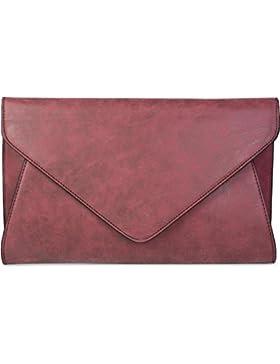 styleBREAKER Clutch Abendtasche im Envelope Kuvert Design mit Schulterriehmen und Trageschlaufe, Damen 02012087