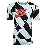 Nike Herren CLTR Footwear 4 T-Shirt, White/Black/(University Red), M