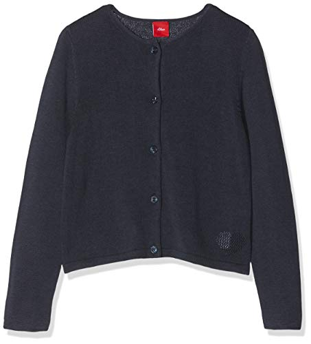 s.Oliver Junior Mädchen 54.899.64.0461 Strickjacke, Blau (Dark Blue 5834), 116 -