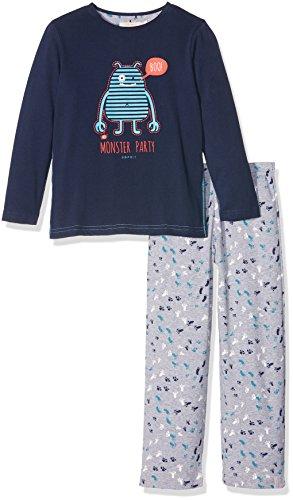 ESPRIT Bodywear Jungen Zweiteiliger Schlafanzug 106EF8Y004, Blau (Navy 400), 116 (Herstellergröße: 116/122)
