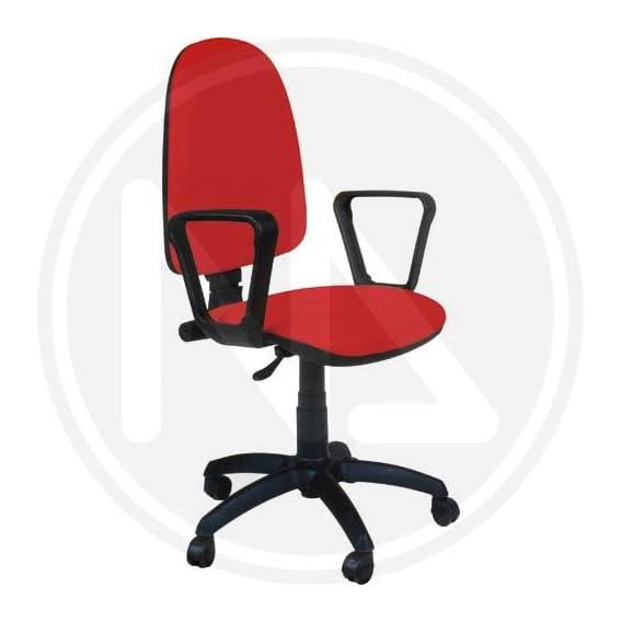 Thema Sedie E Tavoli.Sedia Da Ufficio Thema Con Braccioli Colore Rosso Mobili