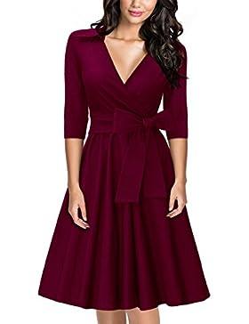 fa284a13e2cd  Sponsorizzato MIUSOL Donna Vintage 1950s Vestito Formale Coctel Abiti Da  Sera