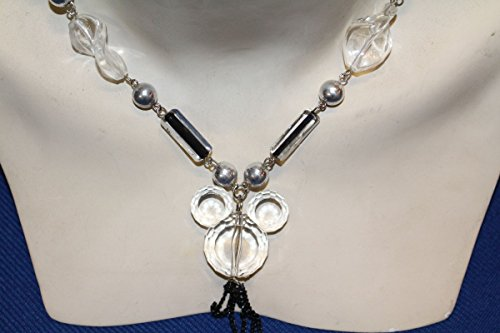 Unbekannt Original Vintage 1970er 70s Halskette Collier Strass Glitzer Bling Bling Disco