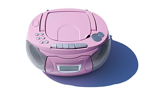 Kinder Mädchen Stereoanlage CD Player Radio Kassettendeck Boombox DENVER  TCP 39 Pink Test