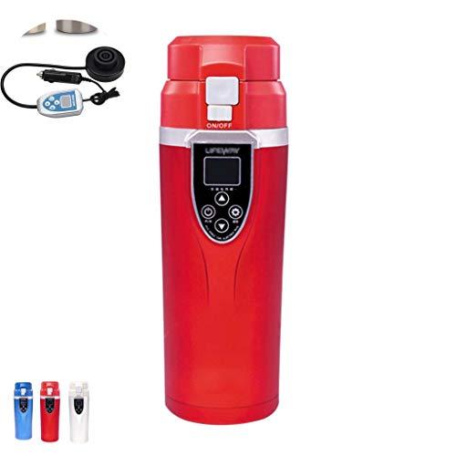 BWBZ Smart Mug Scaldabiberon Tazza Da Viaggio Riscaldata Controllo Della Temperatura Tazza Di Caffè Schermo LCD A LED Auto E Uso Domestico Interruttore A Doppia Tensione Foro Di Ventilazione
