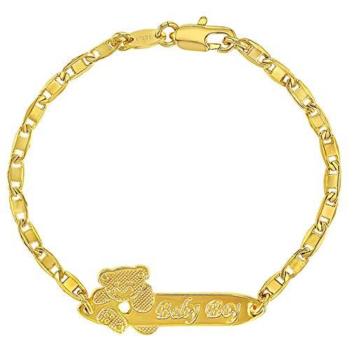 cc37a9dc80ca In Season Jewelry Pulsera de Identificación chapada en Oro DE 18 K para bebé