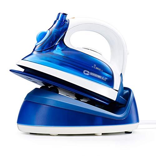 Plancha eléctrica Motor de Vapor Plancha para el hogar Mini planchadora Aluminio pequeño de Hierro Separación de depósitos de Agua (Color : Blue, Size : 19 * 14.5 * 21cm)